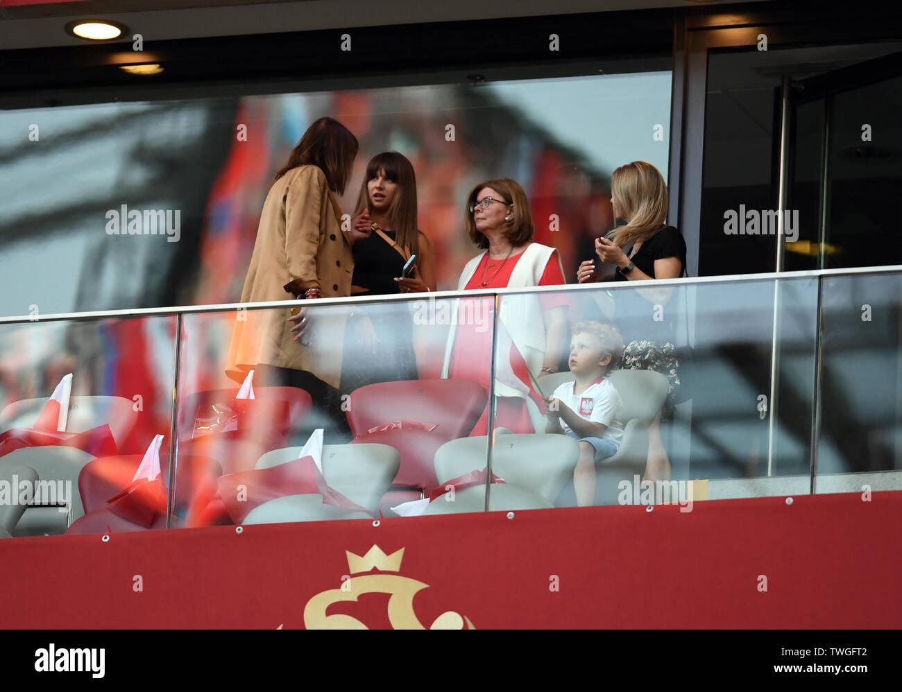 Warsaw, Poland, June 10, 2019: EURO 2020 qualifing round, group stage, Poland wins 4:0 with Izarel on PGE Narodowy. Anna Lewandowska wife of Robert Lewandowski (Poland) - Stock Image