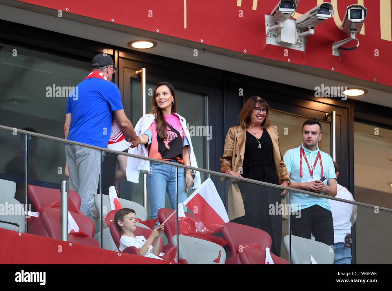 Warsaw, Poland, June 10, 2019: EURO 2020 qualifing round, group stage, Poland wins 4:0 with Izarel on PGE Narodowy. Marina Luczenko - Szczesny Wojciech Szczesny (Poland) - Stock Image