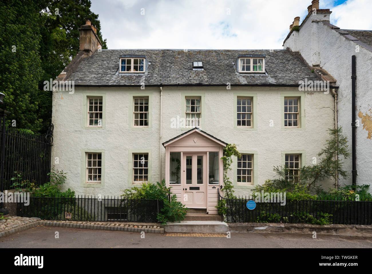 Old restored house in Dunkeld, Perthshire, Scotland, UK - Stock Image