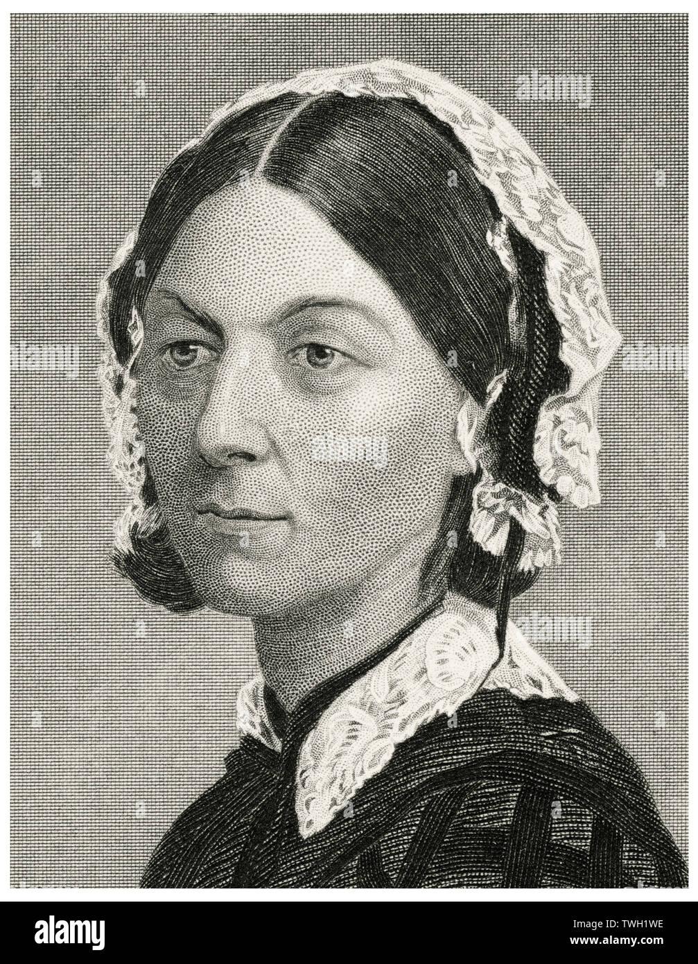 Florence Nightingale 1820 1910 English Nurse Stock Photos