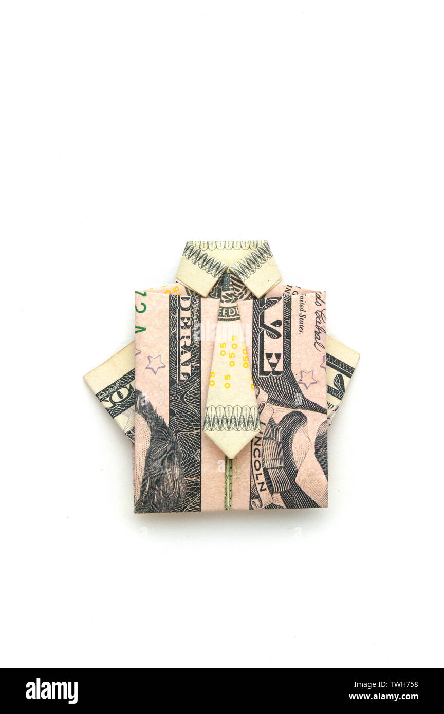 Paper Money Origami with American Dollar Bills; Shirt & Tie   The ...   1390x864