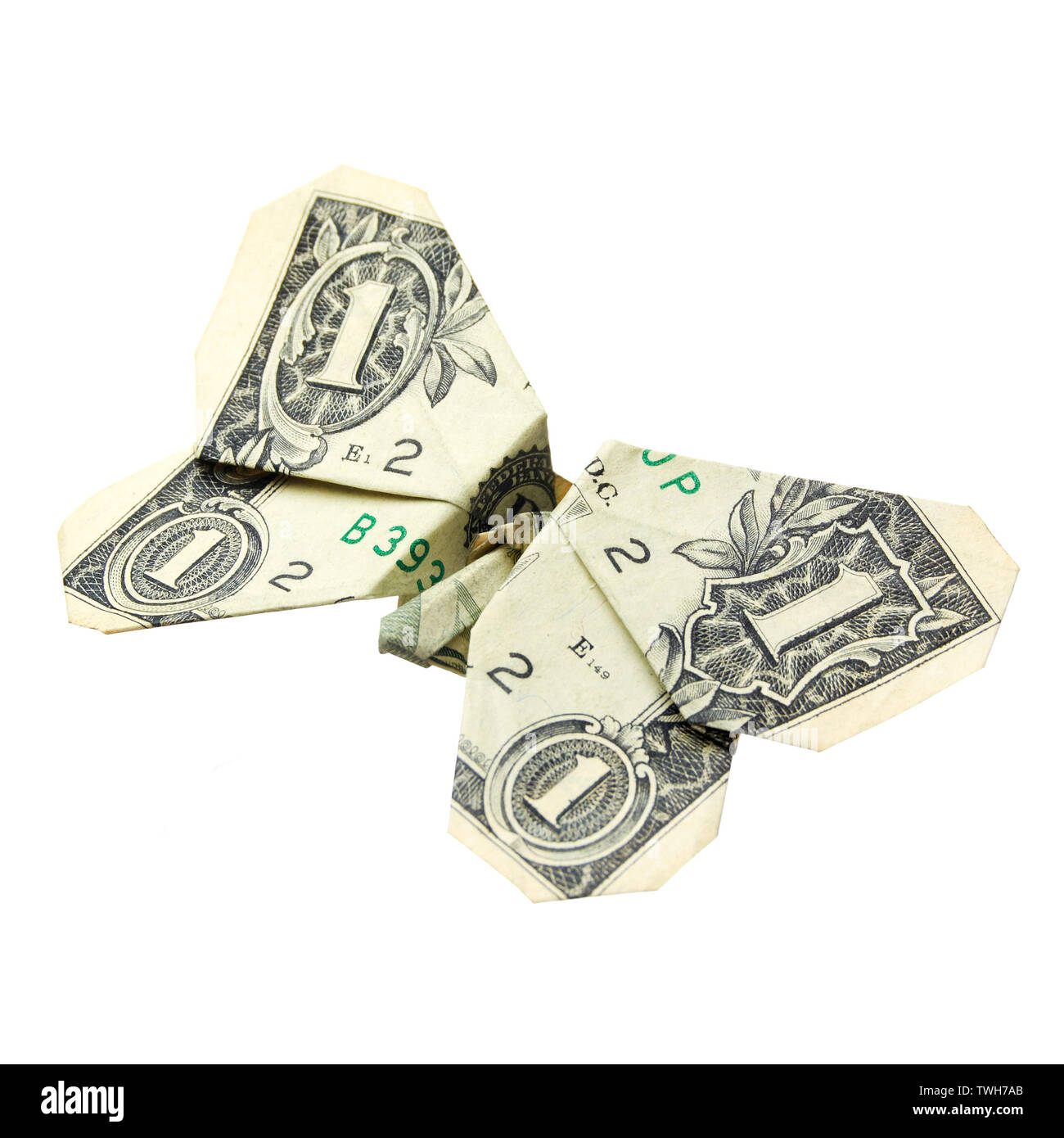 Easy Money Origami Buttefly Folding Instructions - How to Make ... | 1390x1300