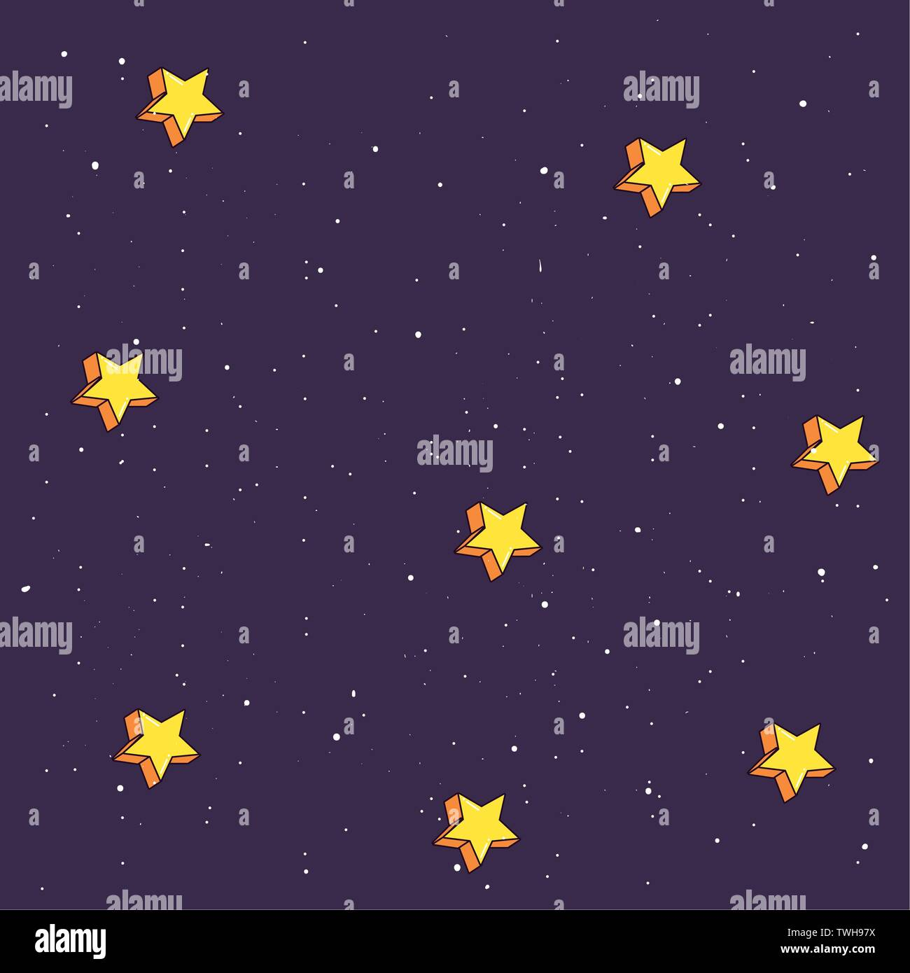 space stars galaxy astronomy background vector illustration - Stock Vector