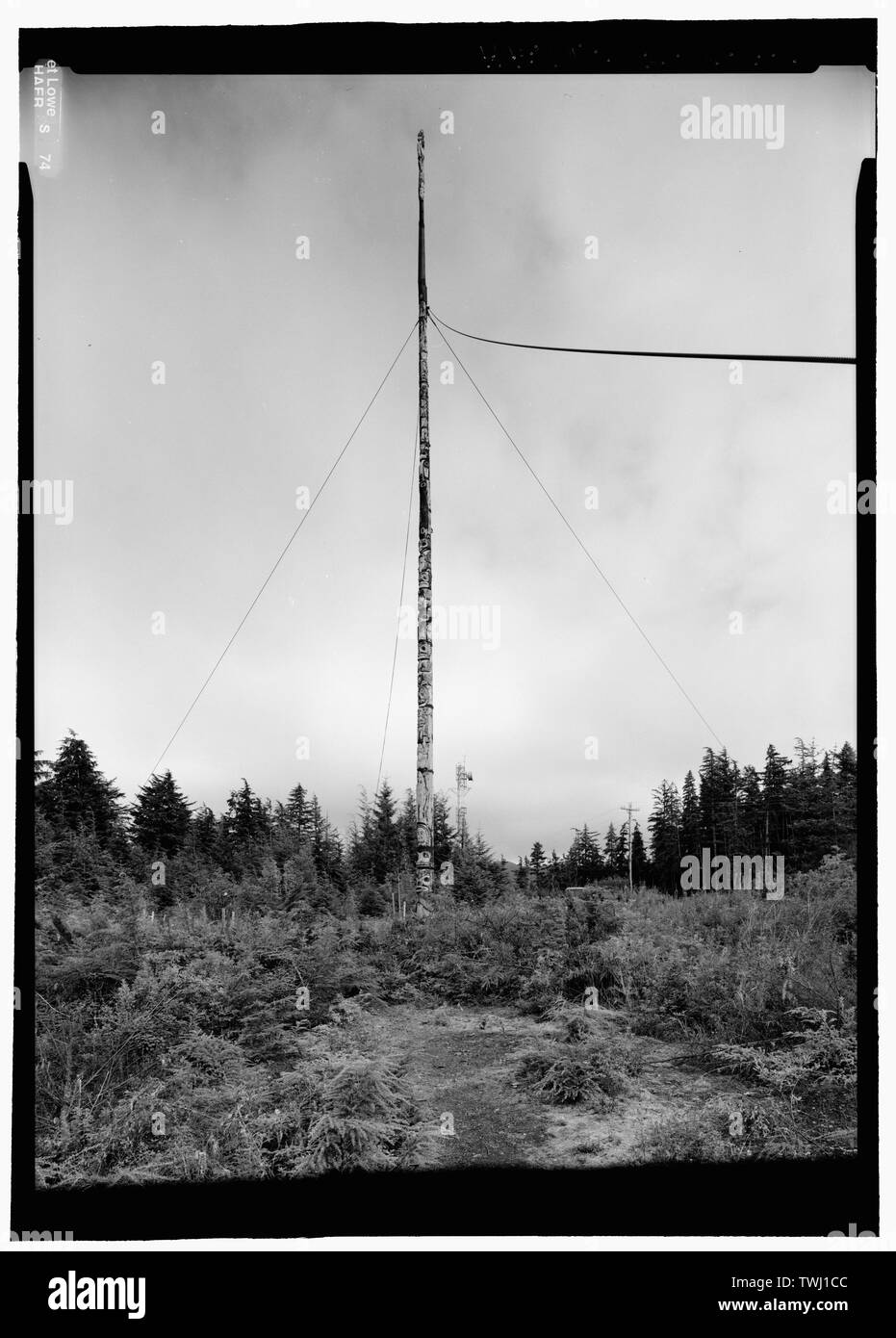 Same view from more southerly angle - Kake Salmon Cannery, Totem Pole, Kake, Wrangell-Petersburg Census Area, AK - Stock Image