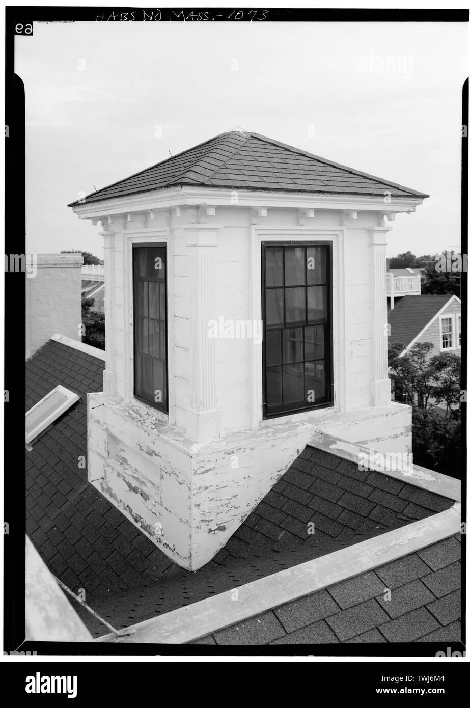 September, 1968 CUPOLA - Tupper-Folger House, 28 Orange Street, Nantucket, Nantucket County, MA - Stock Image