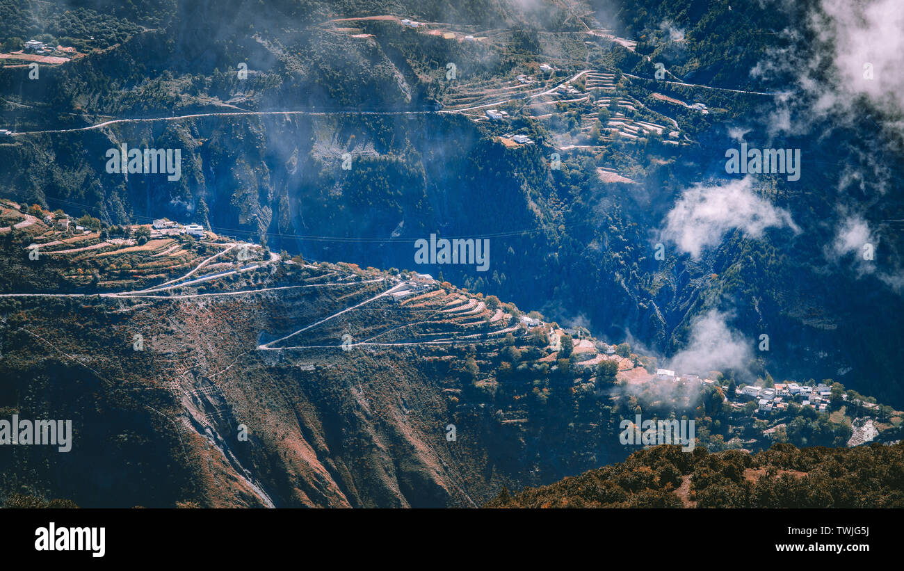 At the foot of the Meri Snow Mountain in Yunnan Stock Photo