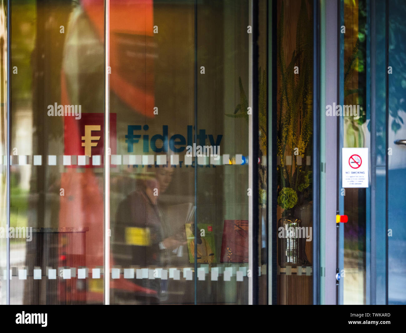 Fidelity International London Offices in Cannon Street in the City of London Financial District - Stock Image