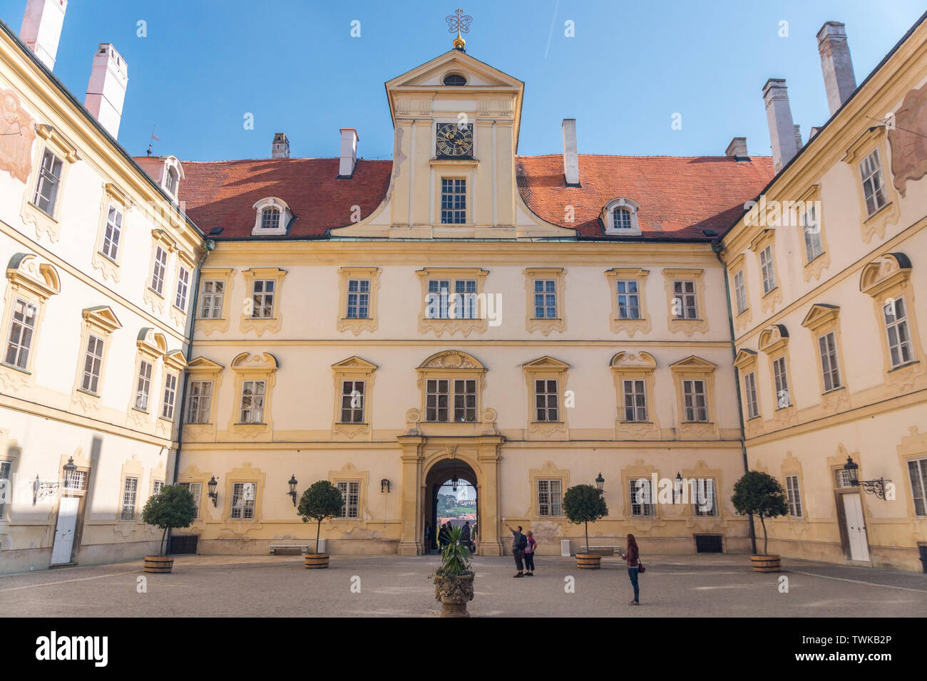 Valtice Castle, Czech Republic Stock Photo
