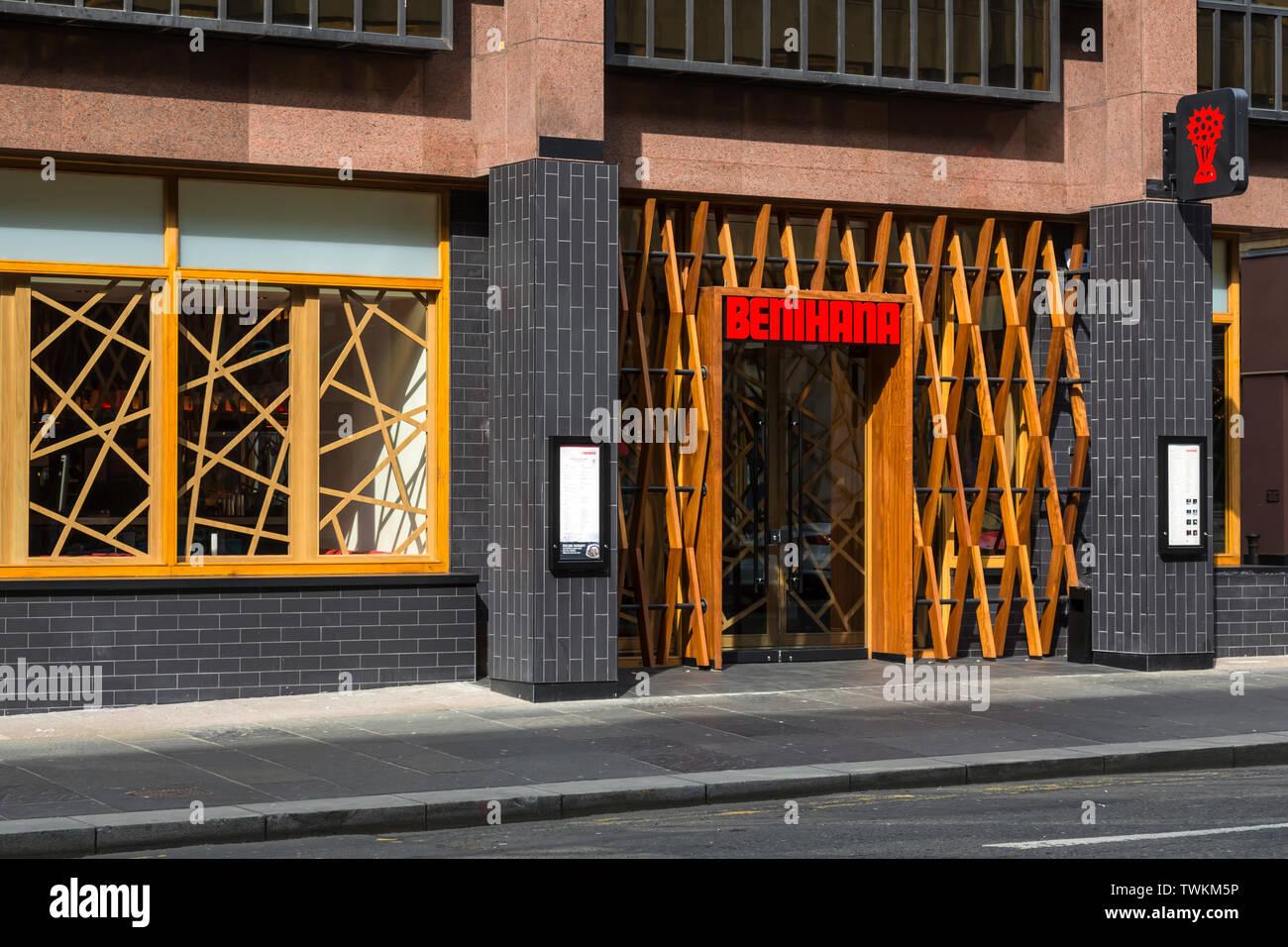 Benihana Japanese Restaurant on West Nile Street in Glasgow city centre, Scotland, UK - Stock Image