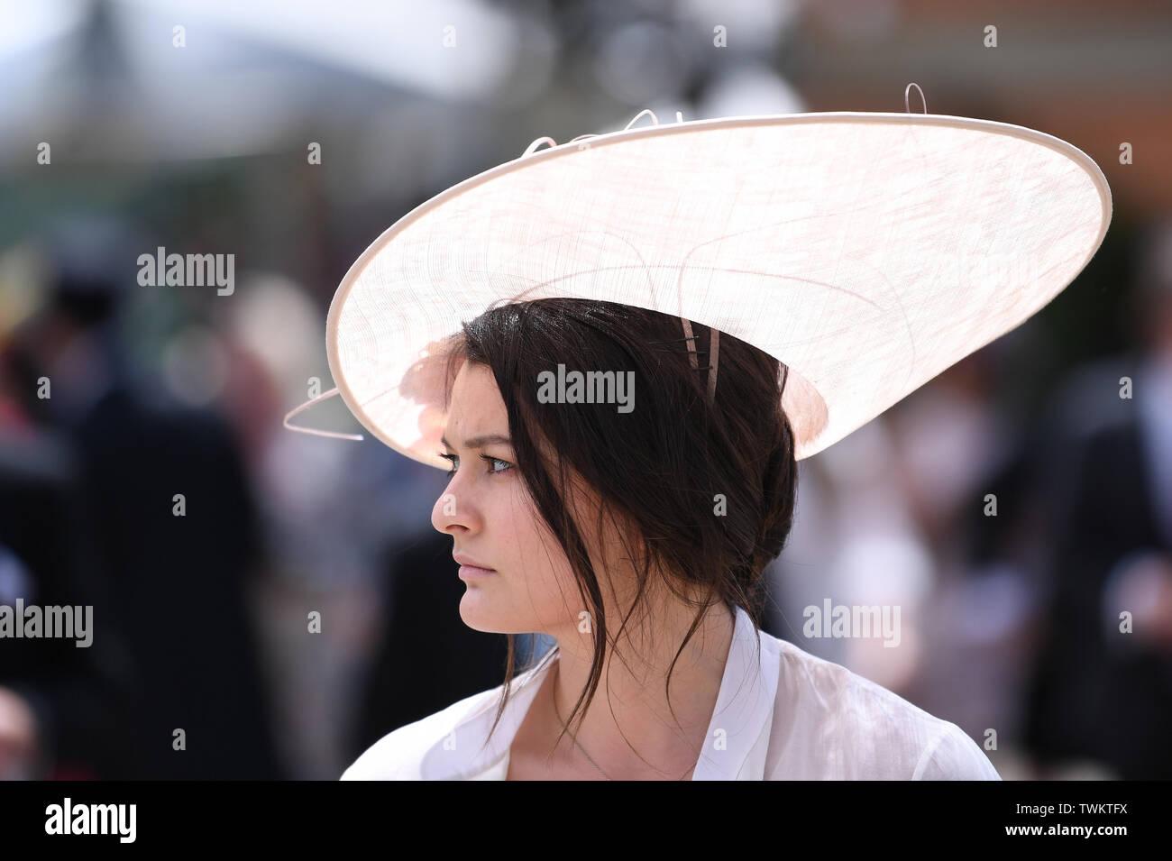 Ascot Racecourse, Berkshire, UK. 21st June, 2019. Royal Ascot Horse racing; Fabulous hats of Royal Ascot Credit: Action Plus Sports/Alamy Live News Stock Photo