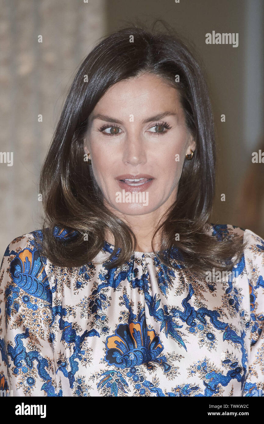 Madrid, Madrid, Spain. 21st June, 2019. Queen Letizia of Spain attends Delivery of the 5th edition of the Discapnet Awards at Auditorio EL Beatriz on June 21, 2019 in Madrid, Spain Credit: Jack Abuin/ZUMA Wire/Alamy Live News Stock Photo