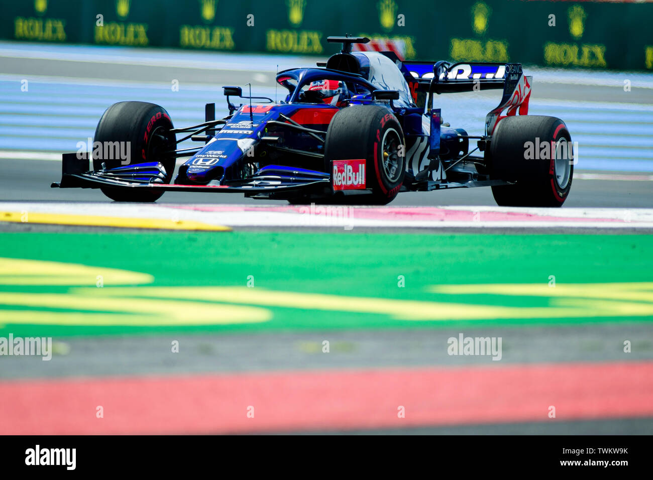Marseille, France. 21st June 2019, Circuit Automobile Paul Ricard, Le Castellet, Marseille, France ; FIA Formula 1 Grand Prix of France, practise sessions; Daniil Kvyat of the Toro Rosso Team in action during free practice 1 Credit: Action Plus Sports Images/Alamy Live News Stock Photo