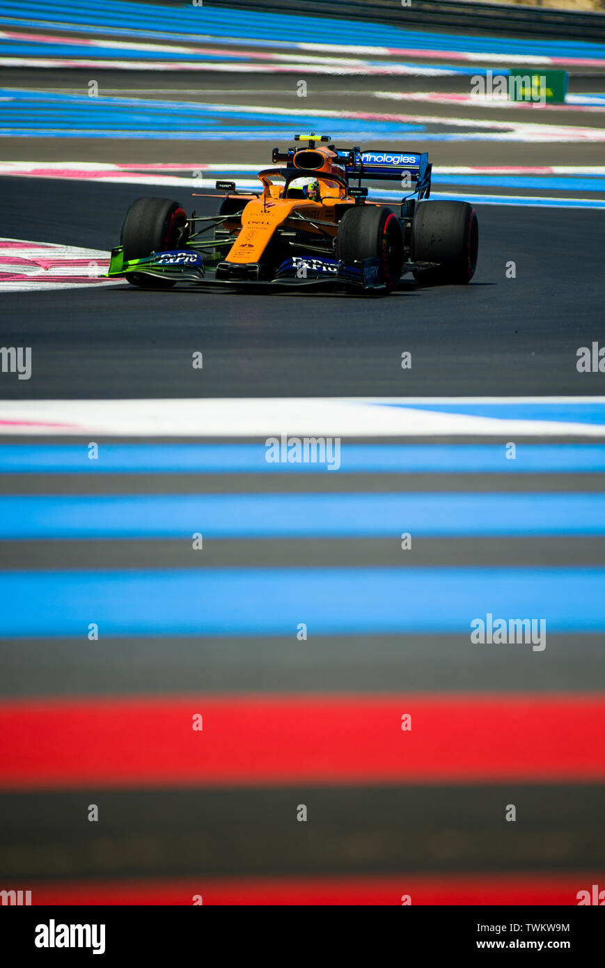 Marseille, France. 21st June 2019, Circuit Automobile Paul Ricard, Le Castellet, Marseille, France ; FIA Formula 1 Grand Prix of France, practise sessions; Lando Norris of the Mclaren Team in action during free practice 1 Credit: Action Plus Sports Images/Alamy Live News Stock Photo