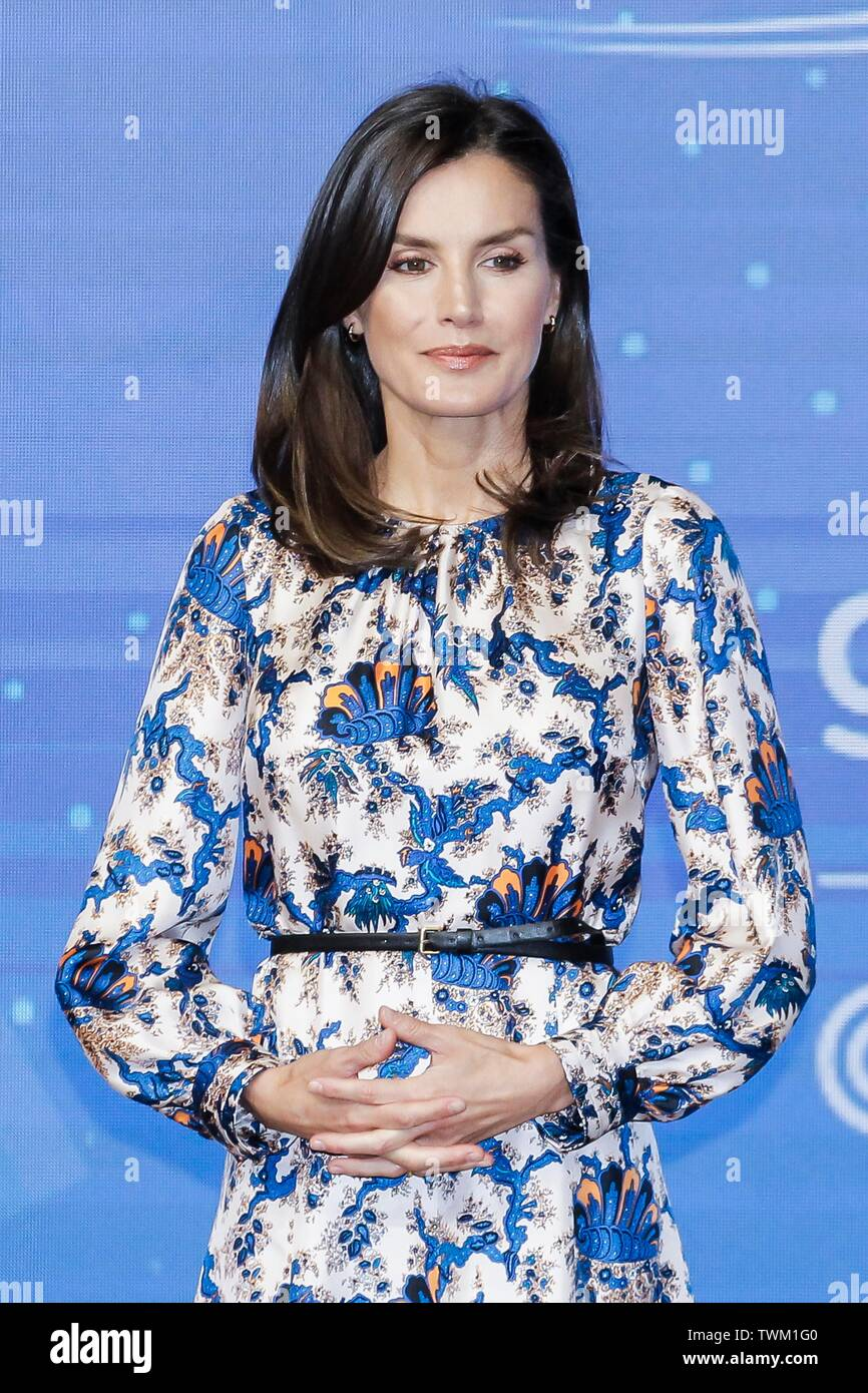 MADRID, SPAIN - June 21: Queen Letizia attends Delivery of the 5th edition of the Discapnet Awards at El Beatriz hotel in Madrid, Spain on the 21st of June of 2019. Credit: Jimmy Olsen/Media Punch ***NO SPAIN*** Stock Photo