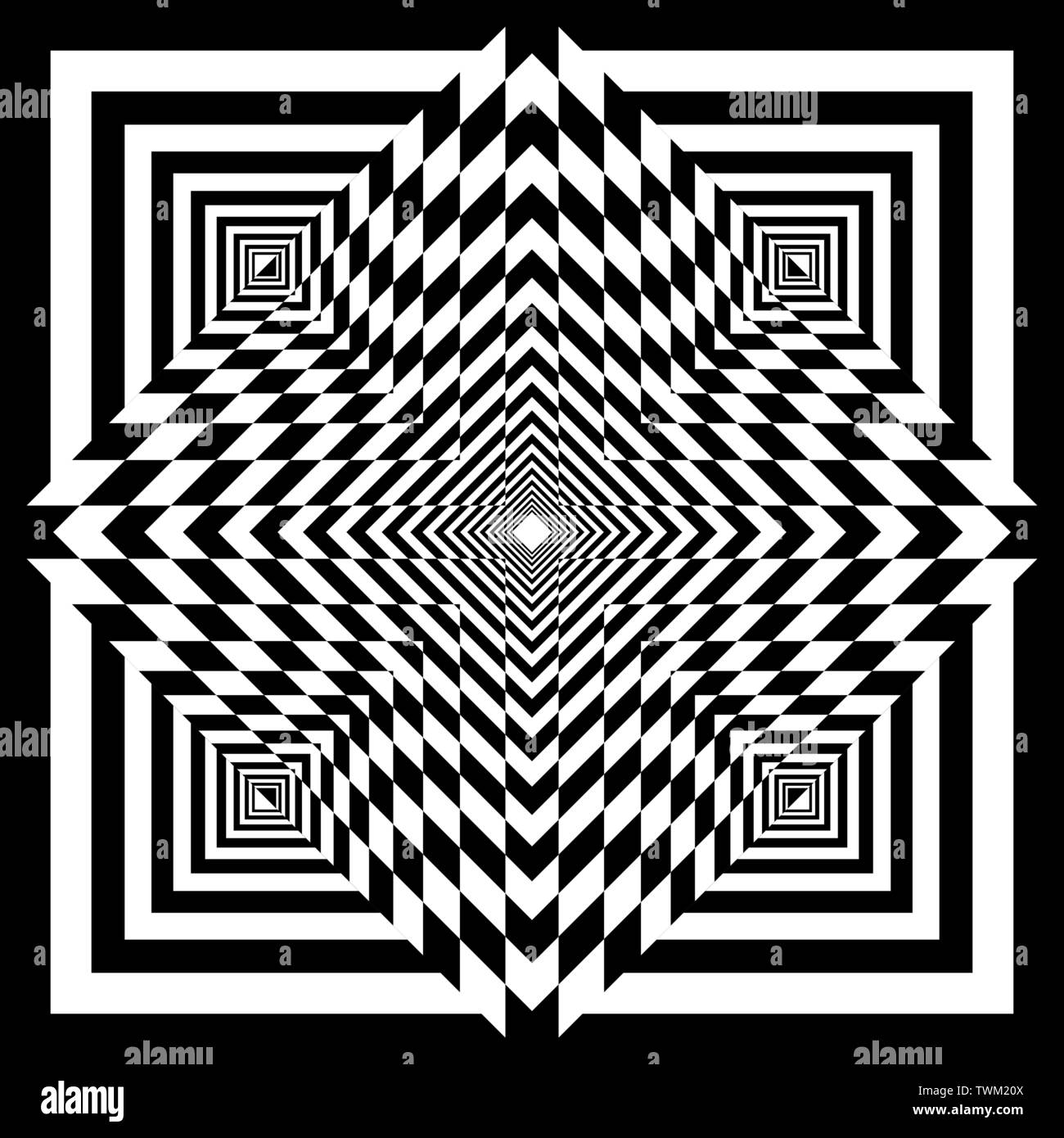 cross tridimensional perspective intersections chessboard ...