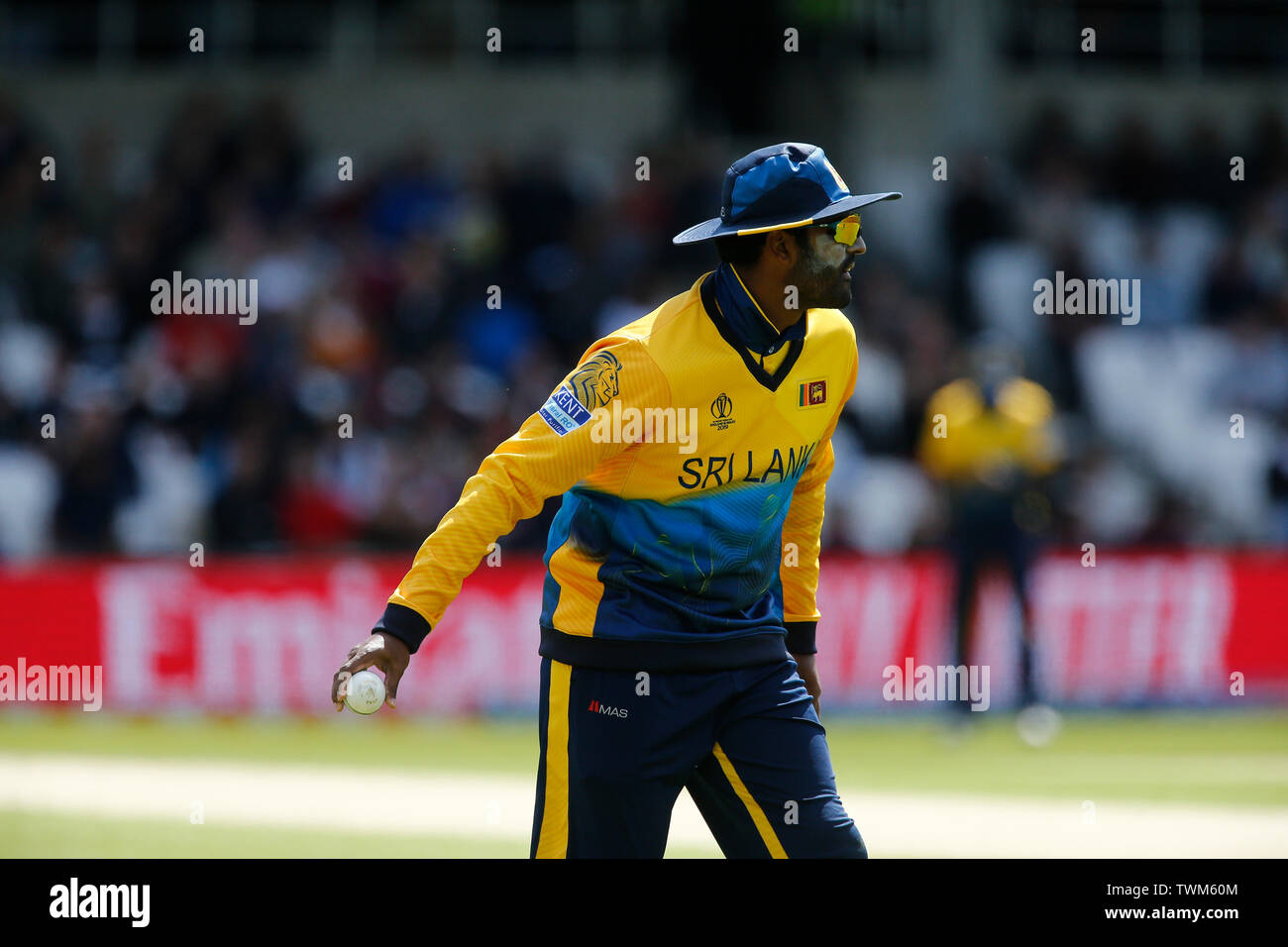 Emerald Headingley, Leeds, Yorkshire, UK. 21st June, 2019. ICC World Cup Cricket, England versus Sri Lanka; Thisara Perera of Sri Lanka Credit: Action Plus Sports/Alamy Live News Stock Photo