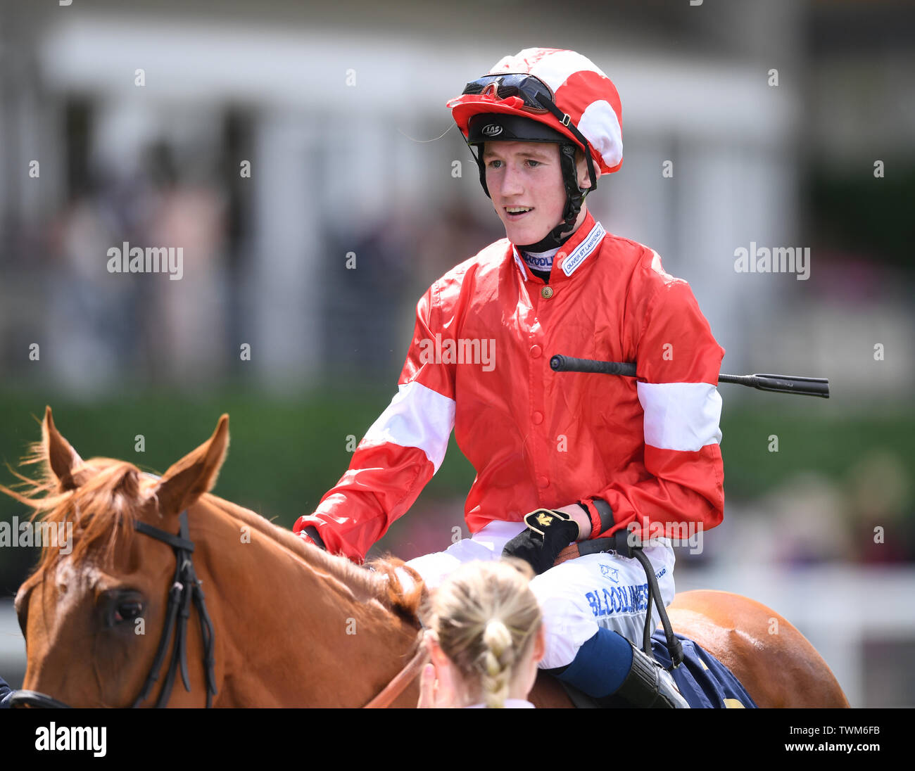 Ascot Racecourse, Windsor, UK. 21st June, 2019. Royal Ascot Horse racing; Race1; The Albany Stakes; Daahyeh Ridden By David Egan wins The Albany Stakes Credit: Action Plus Sports/Alamy Live News Stock Photo