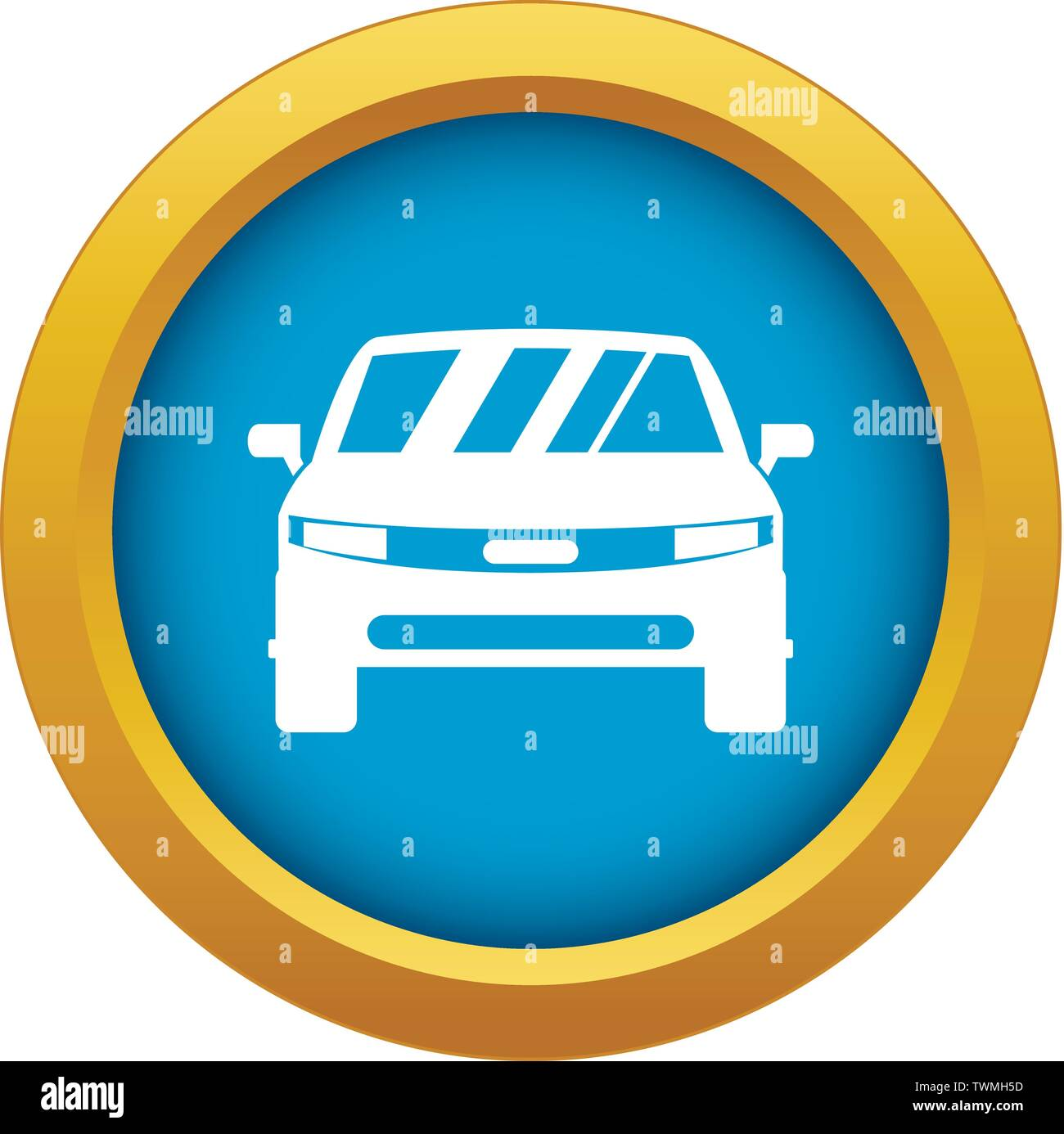 Car icon blue vector isolated - Stock Image