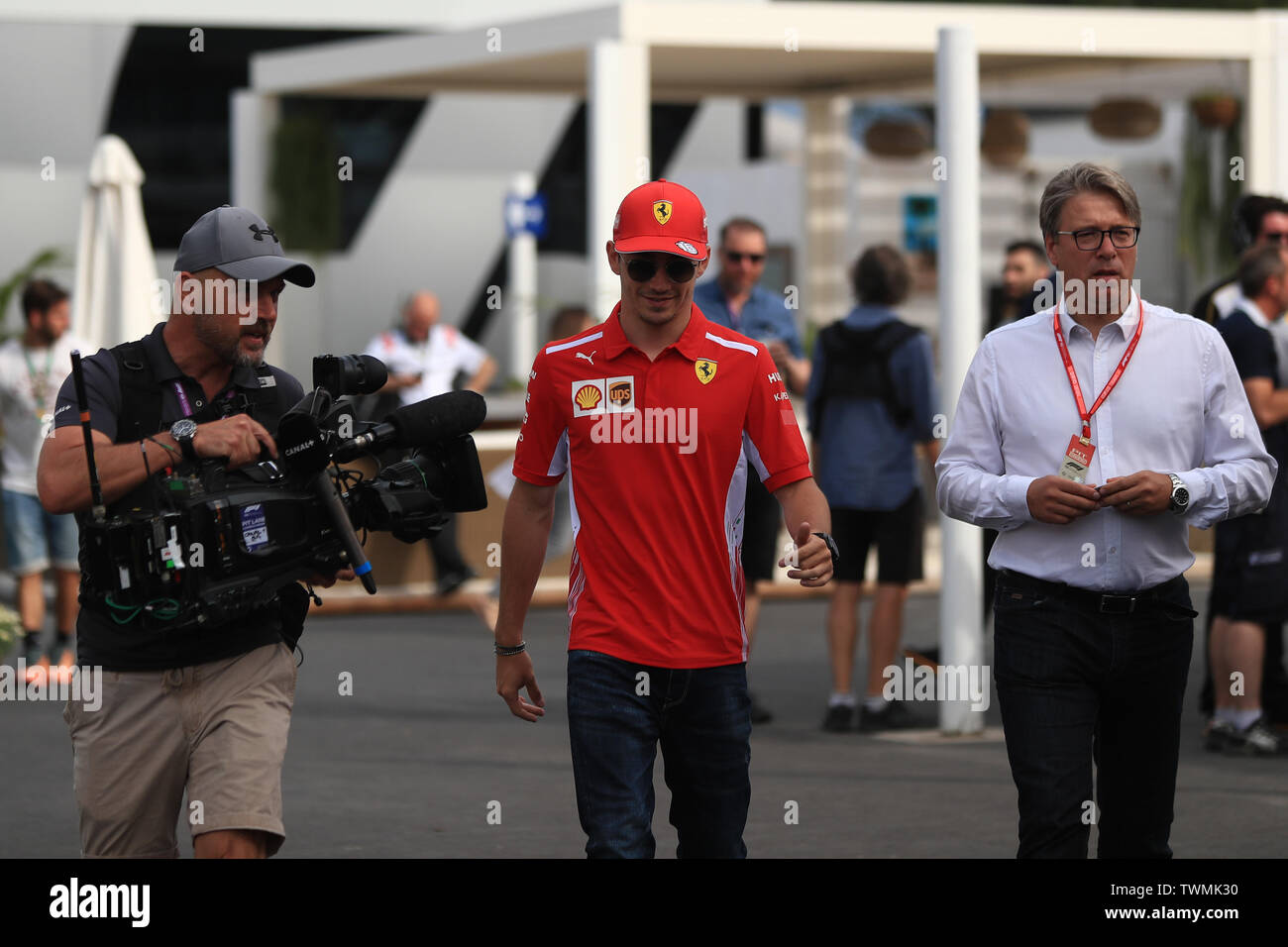 Marseille, France. 21st Jun 2019. FIA Formula 1 Grand Prix of France, practice sessions; Scuderia Ferrari, Charles Leclerc Credit: Action Plus Sports Images/Alamy Live News Stock Photo