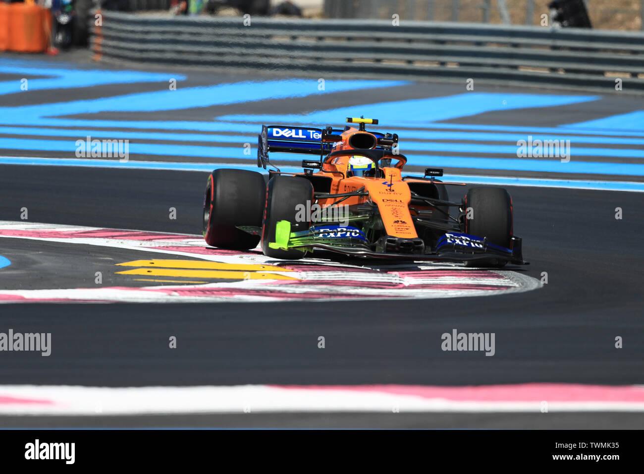 Marseille, France. 21st Jun 2019. FIA Formula 1 Grand Prix of France, practice sessions; McLaren, Lando Norris Credit: Action Plus Sports Images/Alamy Live News Stock Photo
