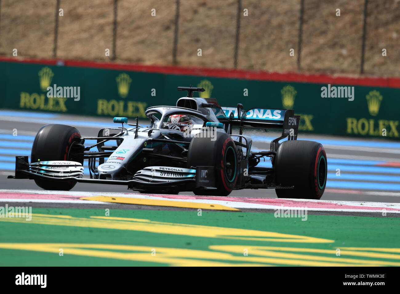 Marseille, France. 21st Jun 2019. FIA Formula 1 Grand Prix of France, practice sessions; Mercedes AMG Petronas Motorsport, Lewis Hamilton Credit: Action Plus Sports Images/Alamy Live News Stock Photo