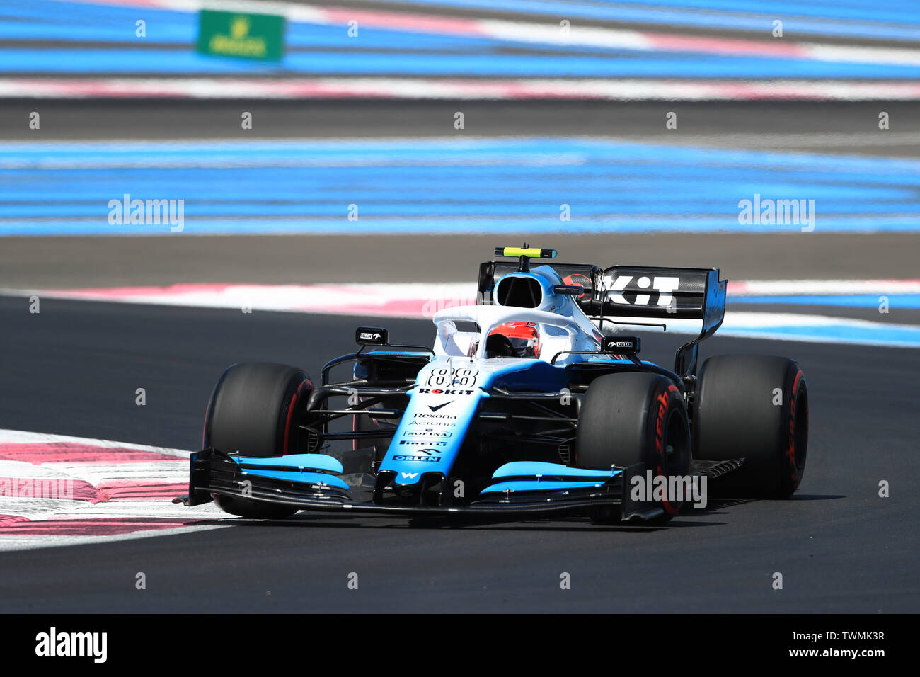 Marseille, France. 21st Jun 2019. FIA Formula 1 Grand Prix of France, practice sessions; ROKiT Williams Racing, Robert Kubica Credit: Action Plus Sports Images/Alamy Live News Stock Photo