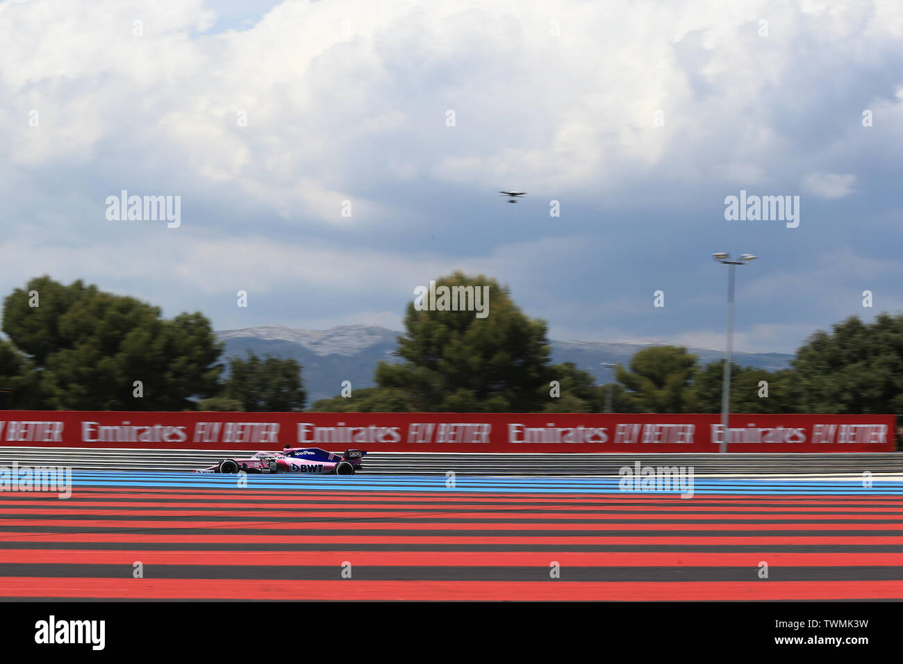 Marseille, France. 21st Jun 2019. FIA Formula 1 Grand Prix of France, practice sessions; SportPesa Racing Point, Sergio Perez Credit: Action Plus Sports Images/Alamy Live News Stock Photo