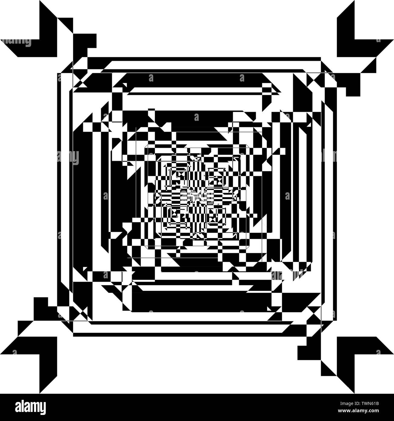 reversed frame tridimensional perspective intersections ...