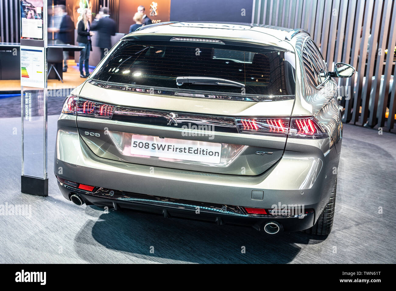 Paris, France, Oct 2018 all new Peugeot 508 SW GT First
