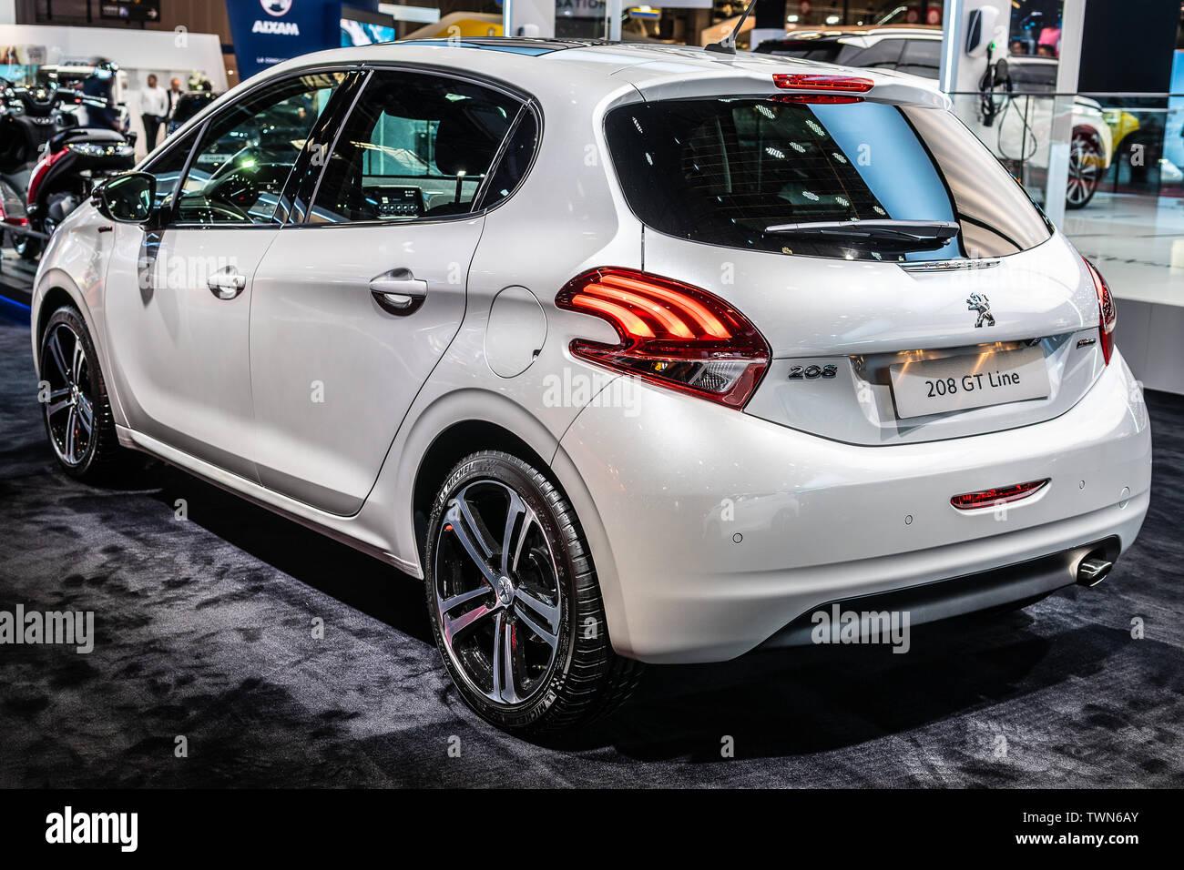 Paris France Oct 2018 White New Peugeot 208 Gt Line At Mondial Paris Motor Show 1st Gen Facelift Car Produced By Peugeot Stock Photo Alamy