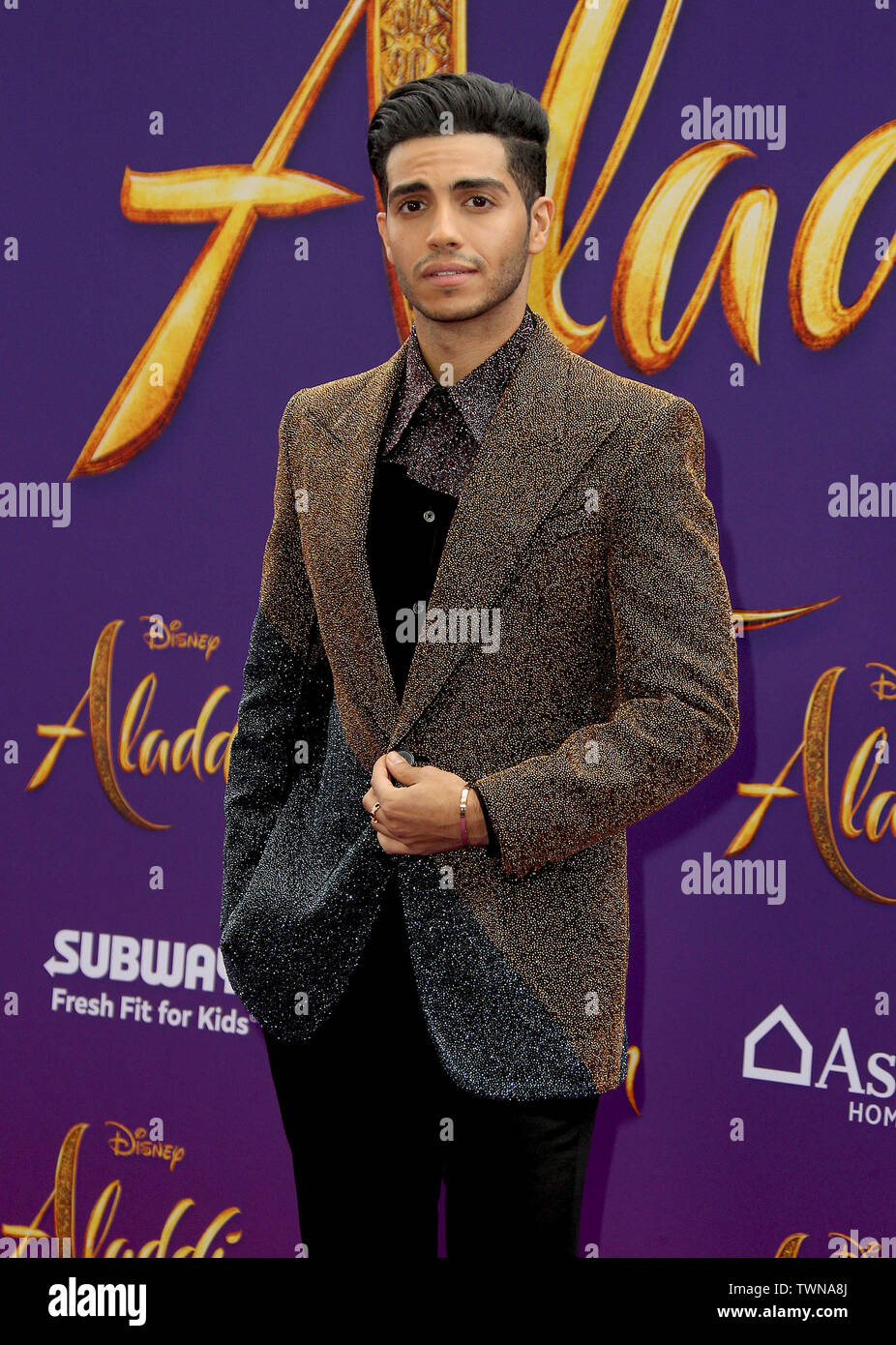 """Disney's Live- Action """"Aladdin"""" Premiere held at the El Capitan Theatre in Hollywood, California. Featuring: Mena Massoud Where: Los Angeles, California, United States When: 21 May 2019 Credit: Adriana M. Barraza/WENN.com - Stock Image"""