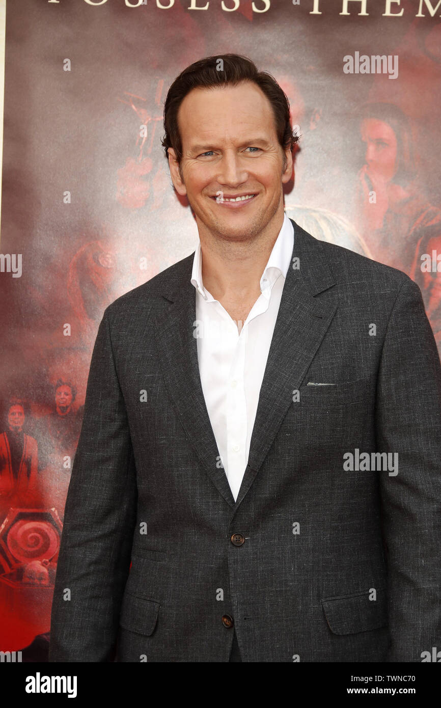 June 20, 2019 - Westwood, CA, USA - LOS ANGELES - JUN 20:  Patrick Wilson at the ''Annabelle Comes Home'' Premiere at the Village Theater on June 20, 2019 in Westwood, CA (Credit Image: © Kay Blake/ZUMA Wire) Stock Photo