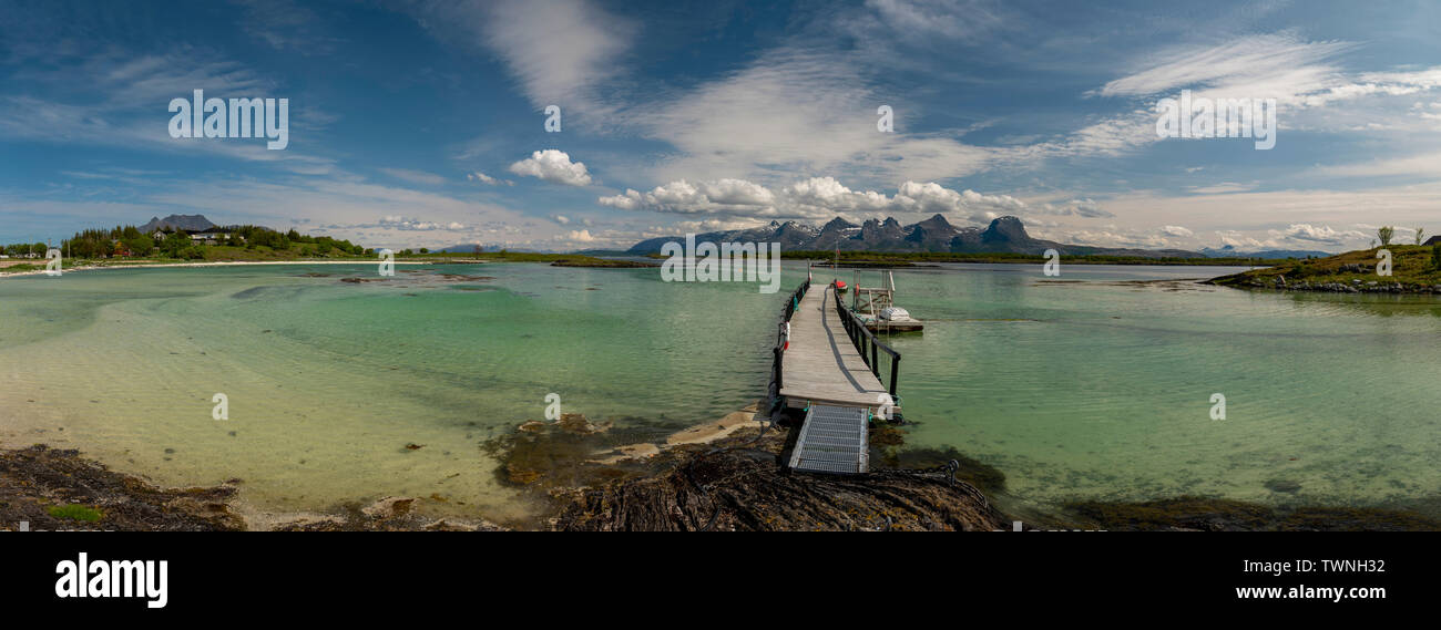 Heroy Island, Norway, summer 2019. - Stock Image