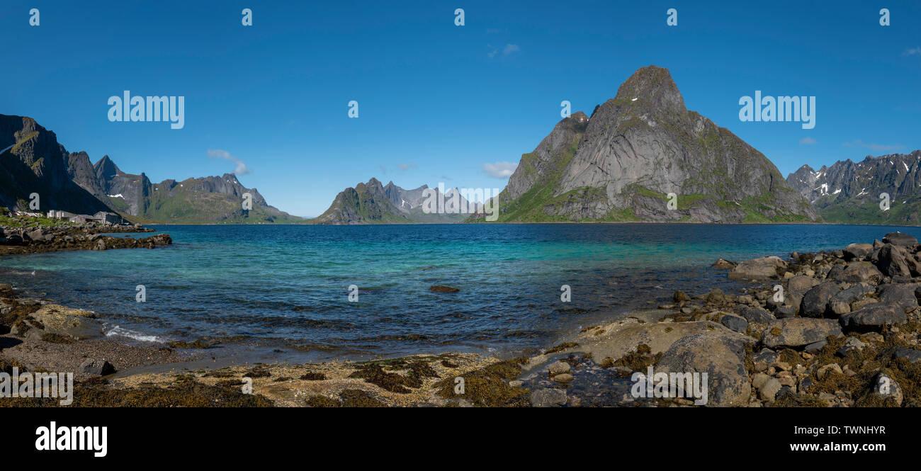Hamnoy, Lofoten Islands, Norway. - Stock Image