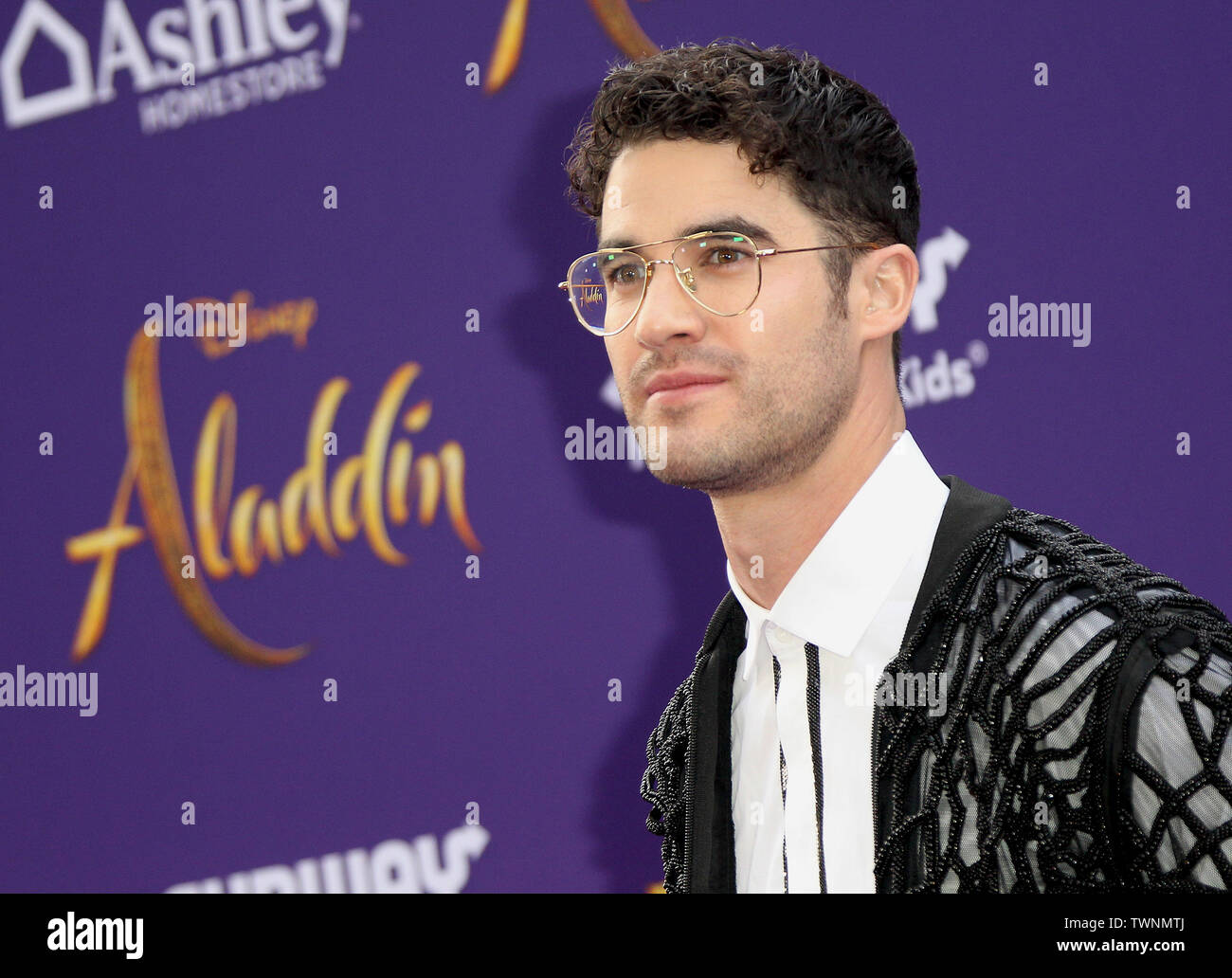 """Disney's Live- Action """"Aladdin"""" Premiere held at the El Capitan Theatre in Hollywood, California. Featuring: Darren Criss Where: Los Angeles, California, United States When: 21 May 2019 Credit: Adriana M. Barraza/WENN.com - Stock Image"""