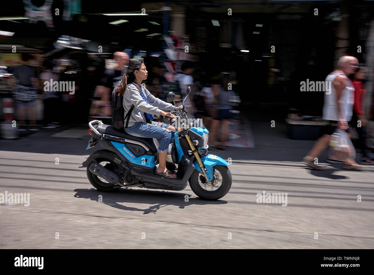 Motorcycle speeding. Blur and motion - Stock Image