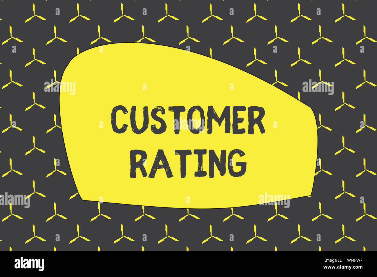 Writing note showing Customer Rating. Business concept for Each point of the customers enhances the experience photo seamless pattern minimal monochro - Stock Image