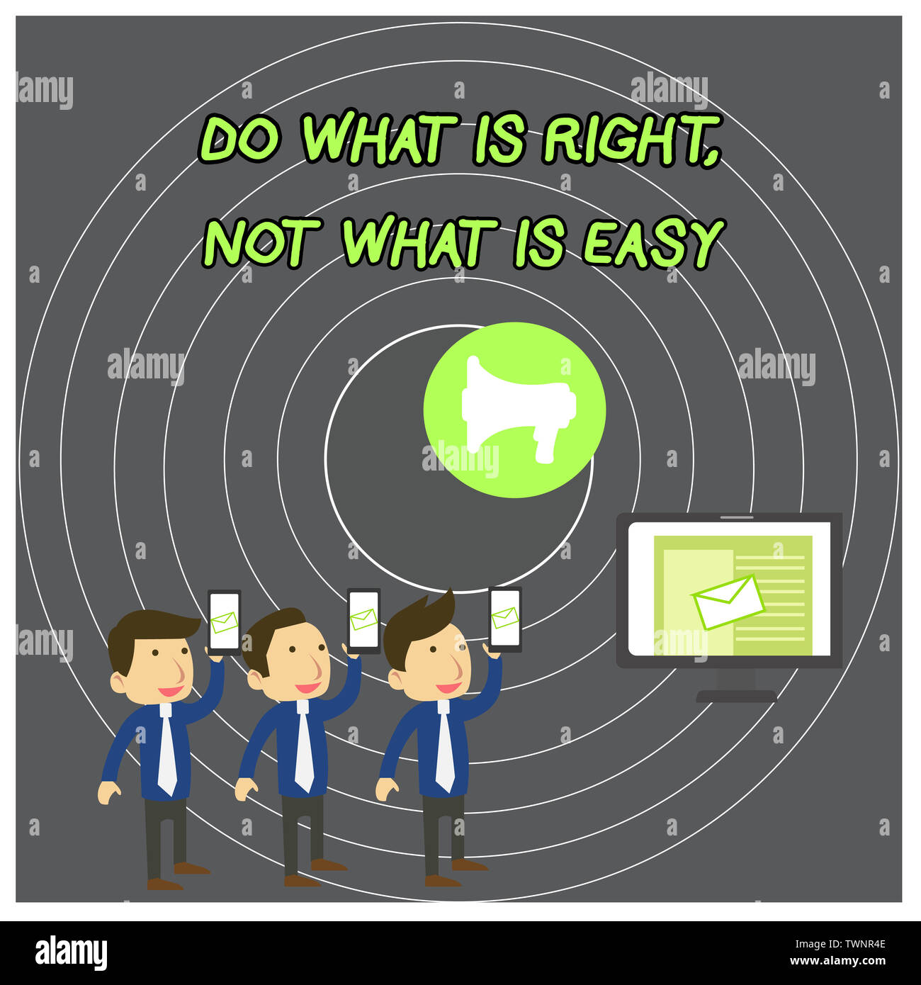 What Does Sms Stand For >> Text Sign Showing Do What Is Right Not What Is Easy