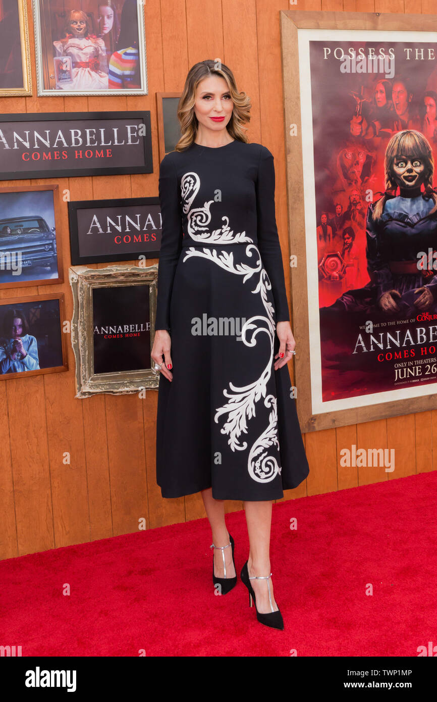 WESTWOOD, LOS ANGELES, CALIFORNIA, USA - JUNE 20: Natalia Safran arrives at the Los Angeles Premiere Of Warner Bros' 'Annabelle Comes Home' held at Regency Village Theatre on June 20, 2019 in Westwood, Los Angeles, California, United States. (Photo by Rudy Torres/Image Press Agency) Stock Photo