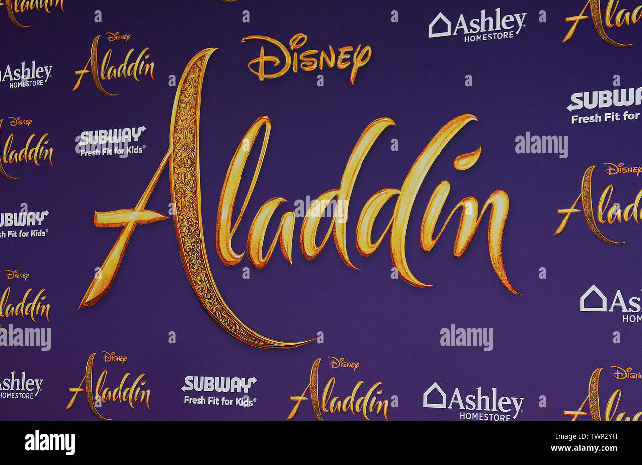 """Disney's Live- Action """"Aladdin"""" Premiere held at the El Capitan Theatre in Hollywood, California. Featuring: Atmosphere Where: Los Angeles, California, United States When: 21 May 2019 Credit: Adriana M. Barraza/WENN.com - Stock Image"""