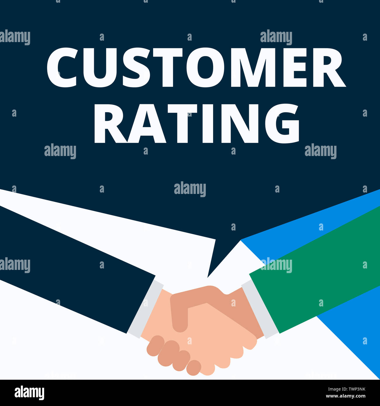 Conceptual hand writing showing Customer Rating  Concept meaning