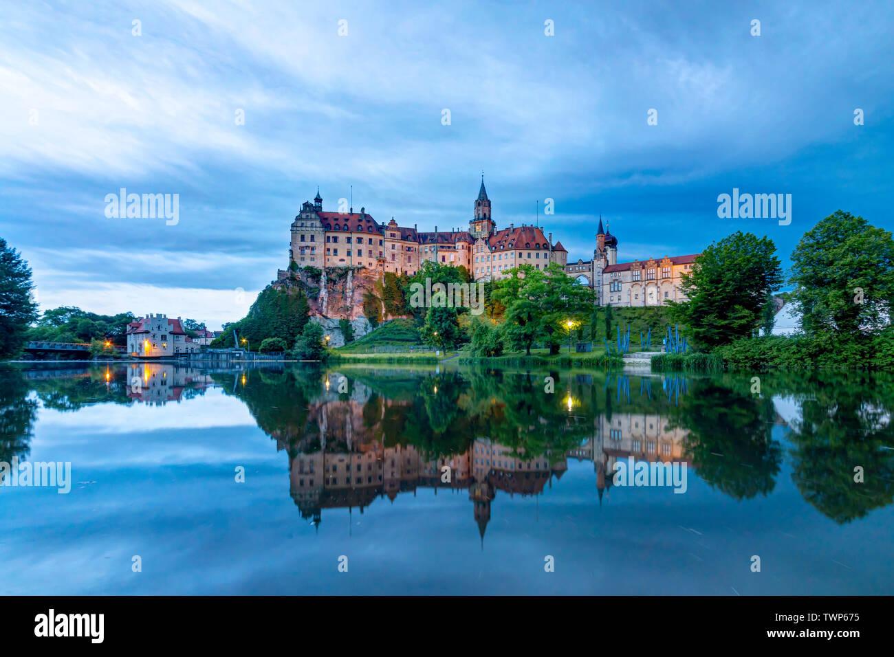 Hohenzollern Castle, Schloss, Sigmaringen, Baden-Württemberg Stock Photo