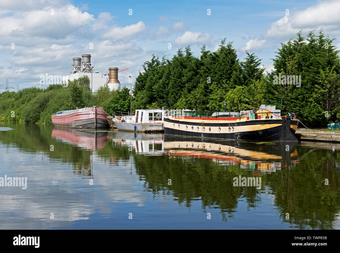 The Stainforth & Keadby Canal, Keadby, North Lincolnshire, England UK - Stock Image