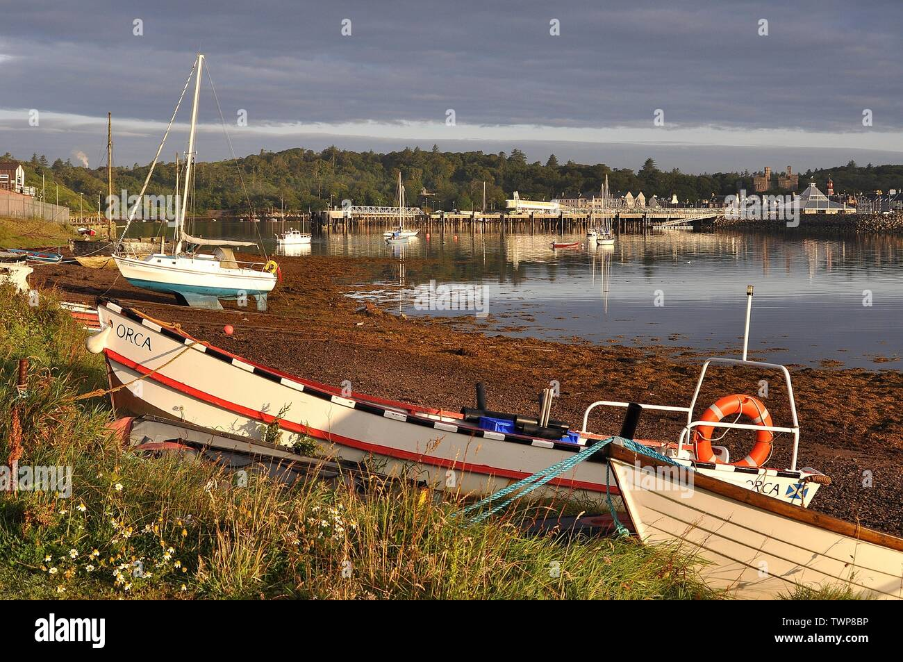 STORNOWAY HARBOUR, OUTER HEBRIDES, SCOTLAND. - Stock Image