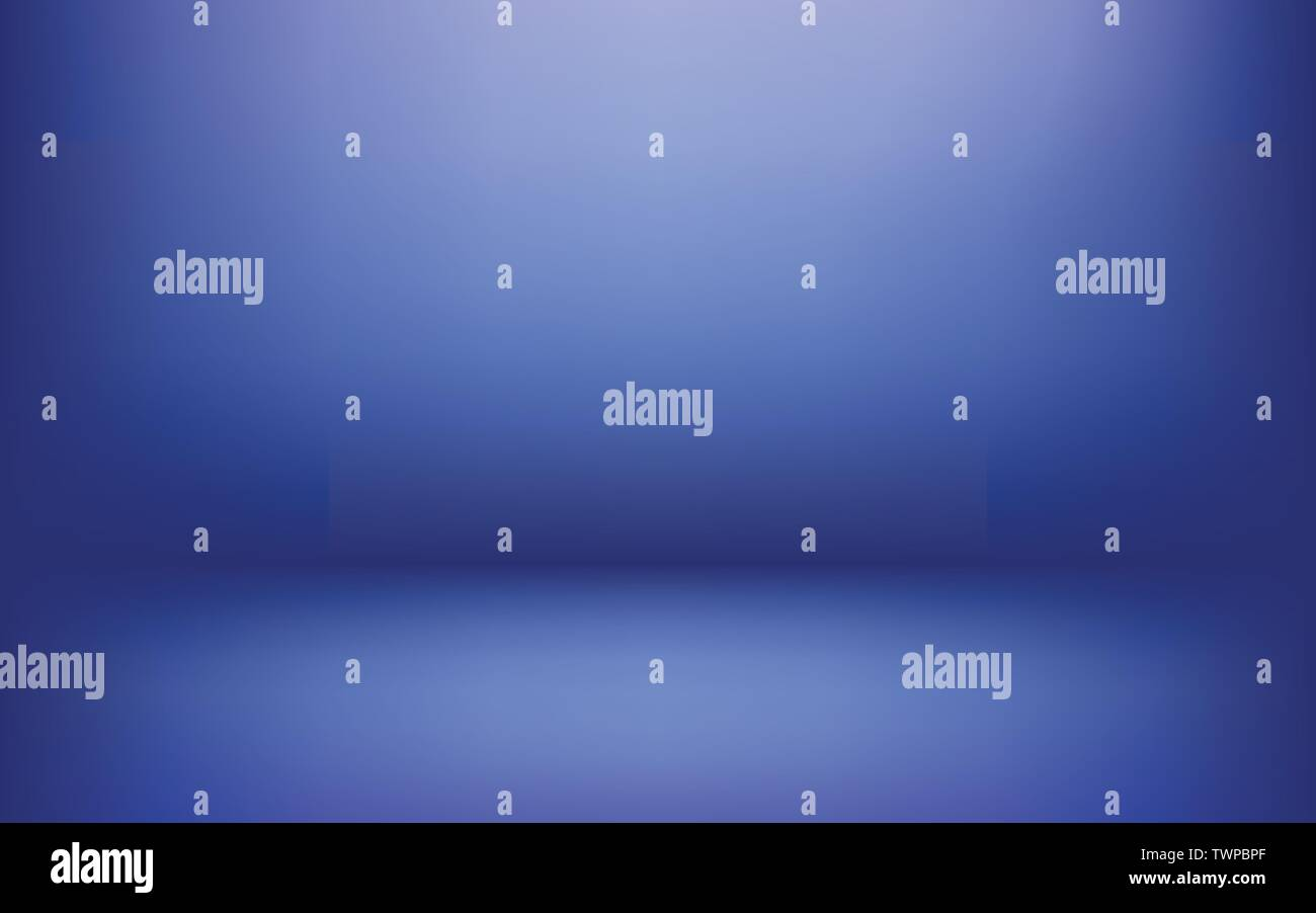 Simple Blue studio abstract background used as display your products montage design backdrop - Stock Vector