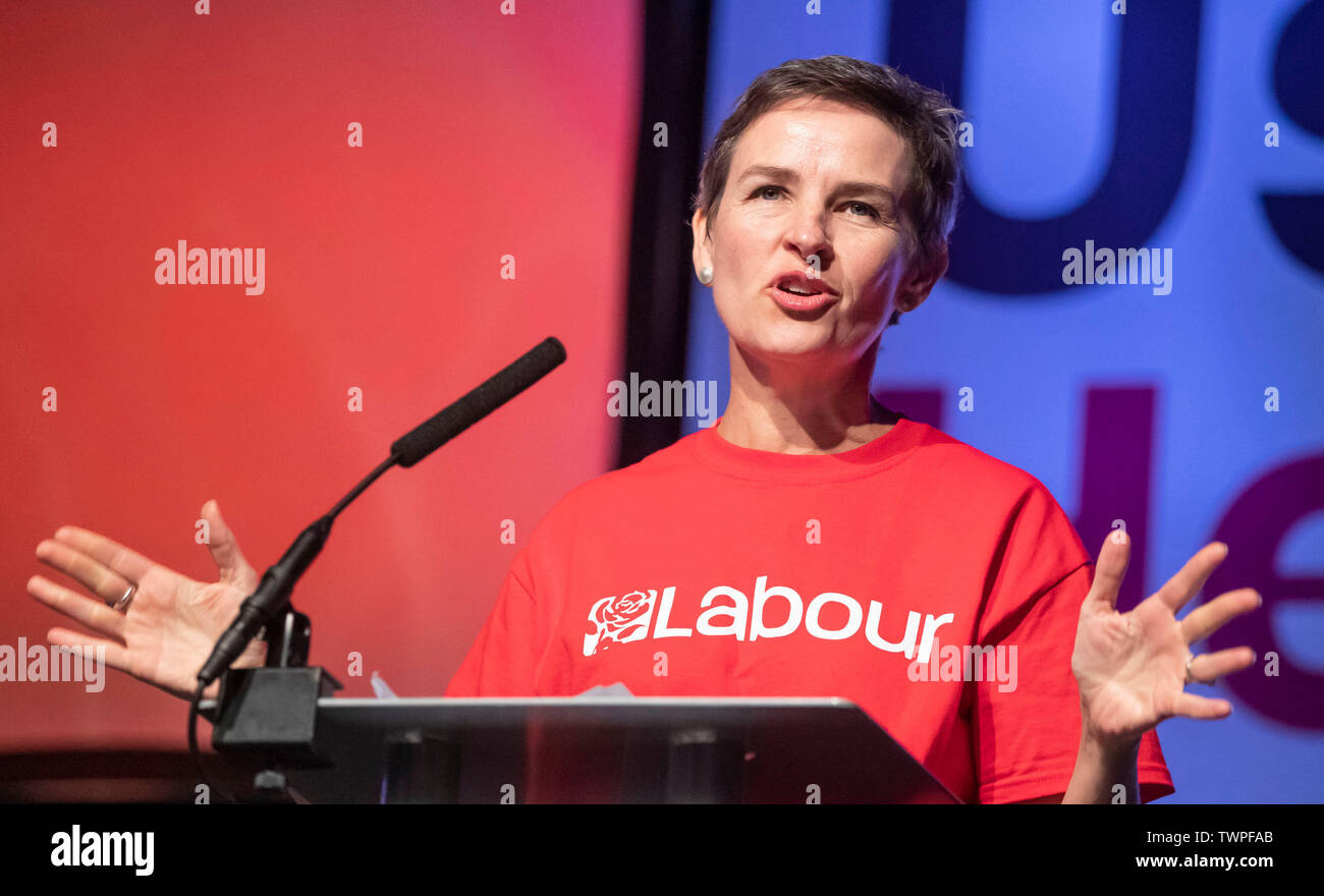 Mary Creagh MP during a People's Vote rally at New Dock Hall in Leeds. - Stock Image