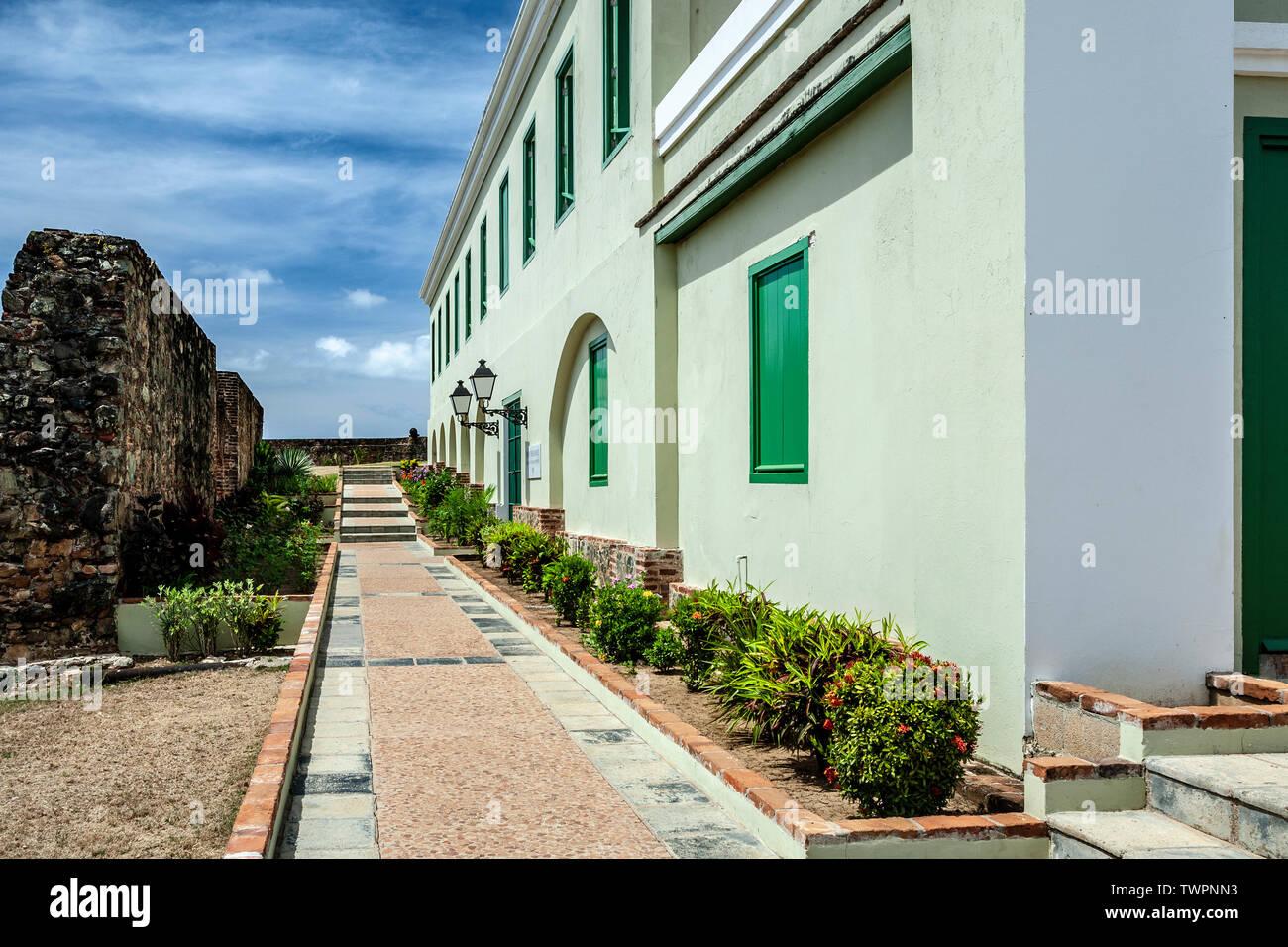 Fort Conde de Mirasol Museum (ca. 1845), Isabel Segunda, Vieques, Puerto Rico Stock Photo
