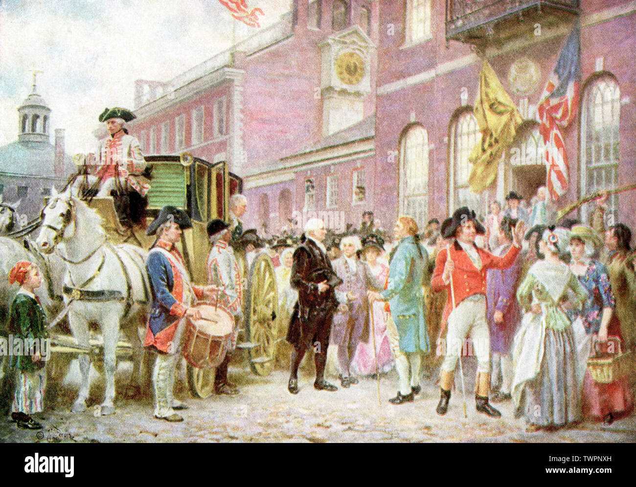 e1d14d724039 This painting of George Washington's Second Inauguration (March 4, 1793) is  by J.G.