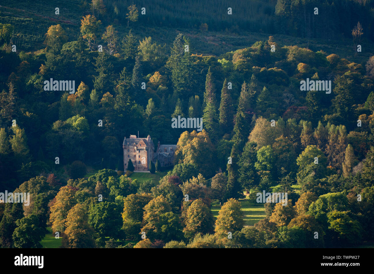 Castle Leod - Strathpeffer, Ross-shire, Scotland. Stock Photo