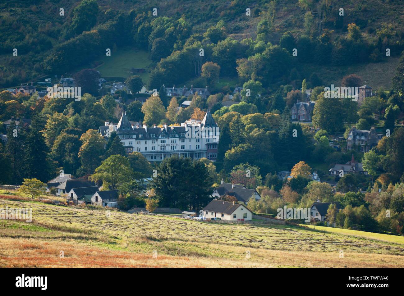 The village of Strathpeffer in autumn - Ross-shire, Scotland. Stock Photo